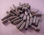 40 Nickel Plated Brass Shell Casings Mixed Headstamps / Jewelry Making / Mixed Media Art / Jewelry Supply / Art Supply