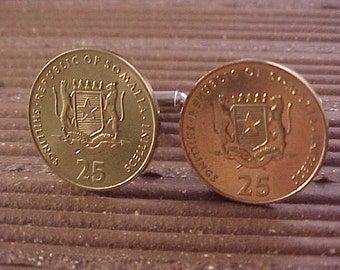 Somalia Coin Cuff Links