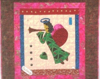 Black History I Believe in Angels Number 19 art quilt wallhanging