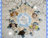 5 person Snowflake Christmas Ornament