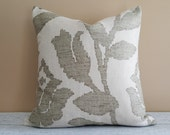 Neutral Cream Pillow Cover, Cream Sage Toss Pillows, Neutral Couch Pillow, Cream Floral  Pillow, Modern Decor, 18x18, 12x18 Lumbar