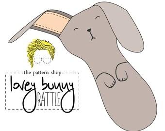 Lovey Bunny Rattle Stuffed Animal Sewing Pattern