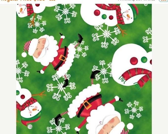 On Sale Holiday Christmas fabric Holly Jolly Santas Christmas Theme Fabric