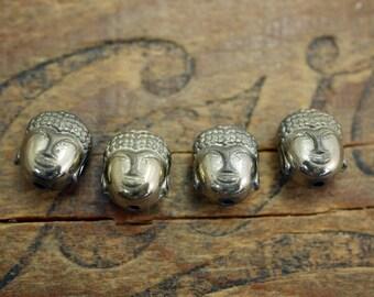 Buddha Bead Gold Finish Hematite Stone Bead Small Buddha (4) Q22