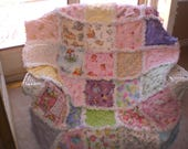 I spy baby girl rag quilt