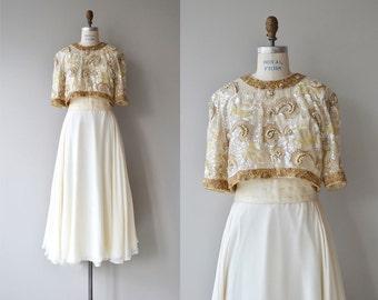 Richilene silk gown   vintage 1960s beaded silk dress   formal 60s maxi dress