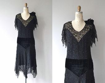Elyza lace dress | vintage 1920s dress | black lace 20s dress