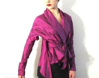 SILK etro Blouse from BASIA DESIGNS Private Vintage Collection Size 48 Euro - Free U.S. Shipping