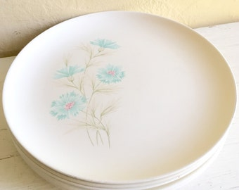 Matching Set of Vintage Taylor Boutonnière Ever Yours Floral Dinner Plates 5 Total