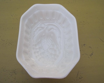 Vintage White Stoneware Strawberry Mold