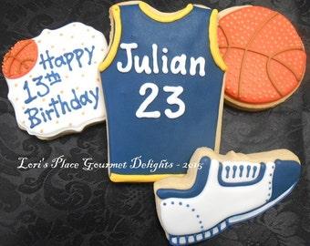Basket Ball Cookies - 12 Cookies