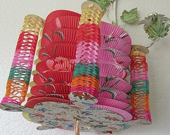 SPRING SALE Colorful Vintage Paper Chinese Lantern