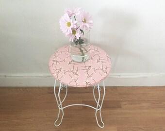 vintage vanity retro chair pretty in pink