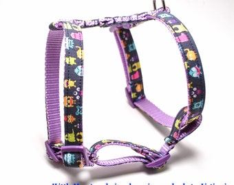 LARGE 21-29 inch Custom Dog Harness / CHOOSE Your Design from Shop / Roman H Style