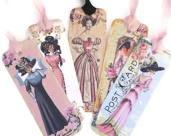 Bookmark, Victorian ladies, Vintage Retro Paper Bookmark, Jane Austen Bookmark, Book Lover, Tea Party Favor,Victorian Era, Made in Australia