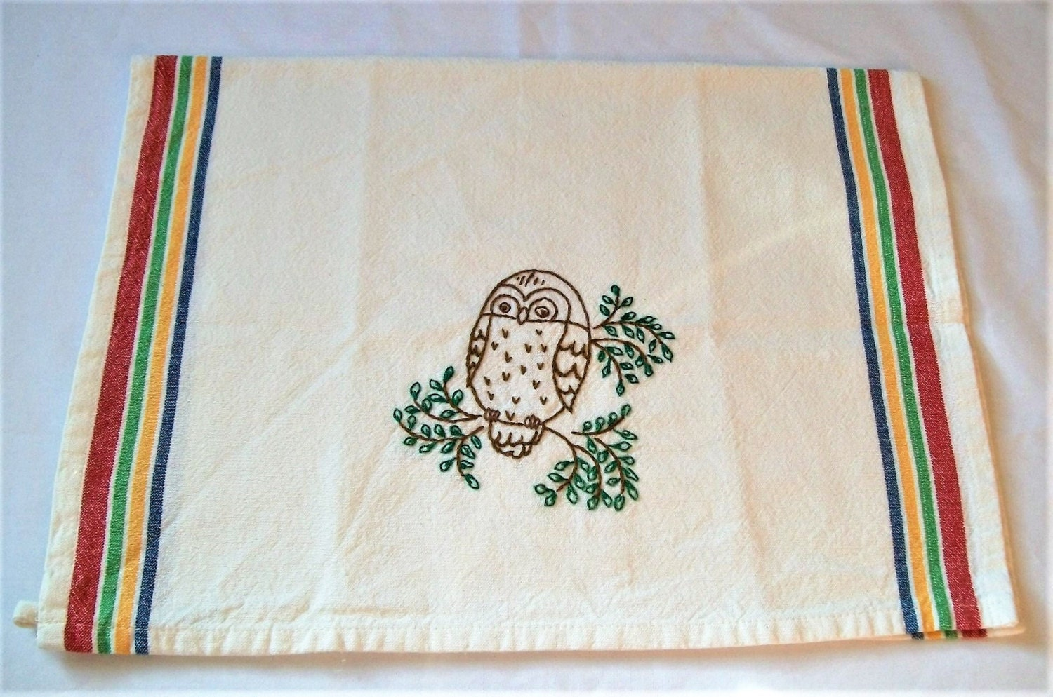 Kitchen Towels Hand Embroidered Hand Embroidery Dish Towel