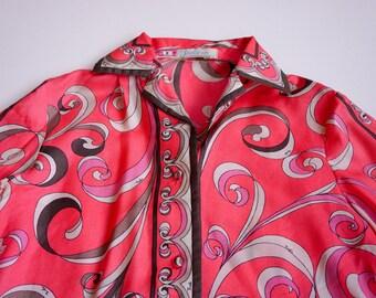 Emilio Pucci Suit, Vintage 1970s, XS