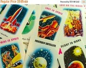 ON SALE 5 Vintage Rare Space Age Edition Collection Edu Cards