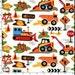 Sale Fabric - Dig It, Michael Miller Fabric, 100% Cotton Fabric, Construction Fabric - Dump Trucks, Tractors, 1 yard