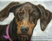 SPECIAL listing for fishlvn 2- 5x7 Custom Pet Portrait Dog Paintings in OIL by LARA