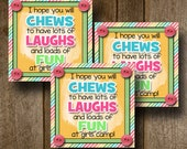 LDS Young Womens Girls Camp Pillow Treats, Young Womens Printable,Girl Scouts, Candy Gram- Gift Tags, Cards (6) 3x3 Cards- Instant download