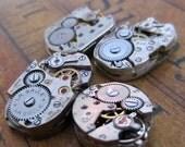 Vintage Antique Watch movements - Watch parts - Steampunk - Scrapbooking B43