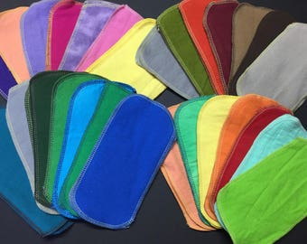 GO UNPAPER: MamaBear Reusable SOLID color Cloth Wipes - 104 count - Replace All the Paper in Your House!