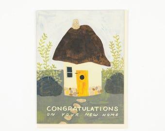 Cob House Congratulations Card
