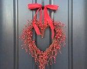 VALENTINE WREATH, Valentines Day Decor, Valentines Gift, Valentines Day Gift, Heart Decor, Valentines Day Wreaths, Door Heart Wreath