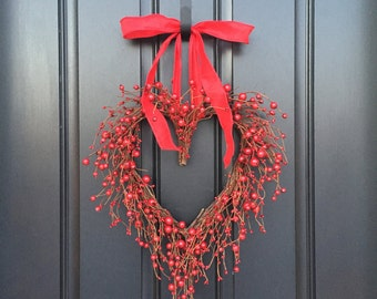 VALENTINE WREATH, Valentines Day Decor, Valentines Gift, Valentines Day  Gift, Heart Decor