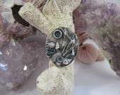 Blue Sapphire and Fine Silver Beach Pendant With Chain OOAK Gifts for Her by Leaping Frog Designs