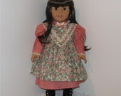 Pink Rose Pinafore Prairie Dress, Fits 18 Inch American Girl Dolls
