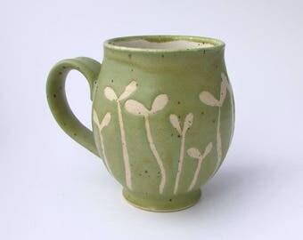 Handmade Stoneware Sprout Mug