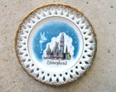 RESERVED Vintage Collectible Disneyland Small Decorative Cabinet Plate Wall Hanging Souvenir Tinkerbell Castle