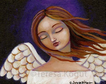 Wall art | Home Decor Print | Angel | 8x10 print | Teresa Kogut | Inspirational | Lavender Haze