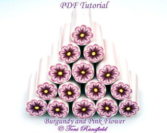 Burgundy and Pink Flower Tutorial