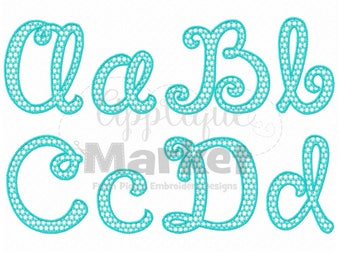 Machine Embroidery Design Happy Day Pattern Fill Alphabet Font INSTANT DOWNLOAD
