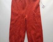 6-18 months - Medium Diaper Cover Wool Longies -Orange Recycled Merino Longies