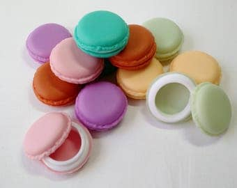 French macaron cookie case small pill box storage - jewelry holder - party favor - knitting crochet stitchmarker holder - buy 6 get one free