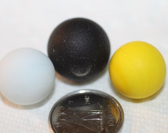 STUNNING BEACHGLASS MARBLES Beautiful trio of awesome peewee marbles  zy 333