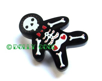 Gingerdead Man Mini Pin by Dolly Cool Gingerbread Skeleton