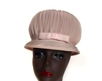 Sale 60s Puff Hat Vintage Statement Hat Marshmallow Look