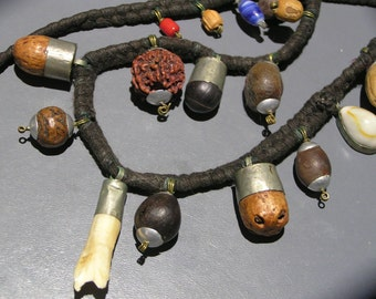 Vintage Nepal Shaman Charm Necklace.  For Good Health n Well Being .Ethnic tribal Jewelry