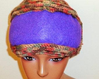 Desert Violets, Crochet Felted Cap