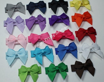 15 Itty Bitty Bow Snap Clips-Baby Bow-Toddler Bow-Fine Hair Clip-CHOOSE 15