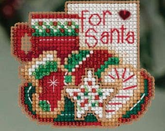 Mill Hill Winter Holiday Collection, For Santa MH18-3302 Christmas Ornament Counted Cross Stitch Kit