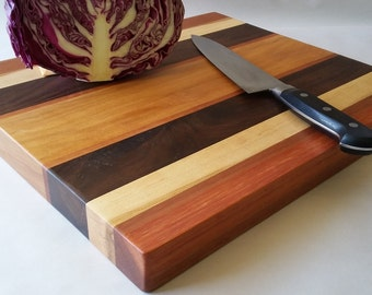THICK and Stout RECLAIMED Hardwoods LARGE Cutting Board