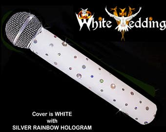 SPARKLE MICROPHONE COVER (White Wedding) for Cordless Microphones
