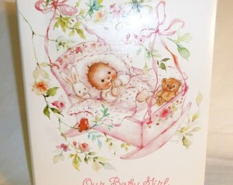 Vintage Hallmark personalized keepsake baby album brag book NEW