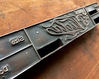 Antique Copper on wood PRINTERS BLOCK - Ladies' Viola order form